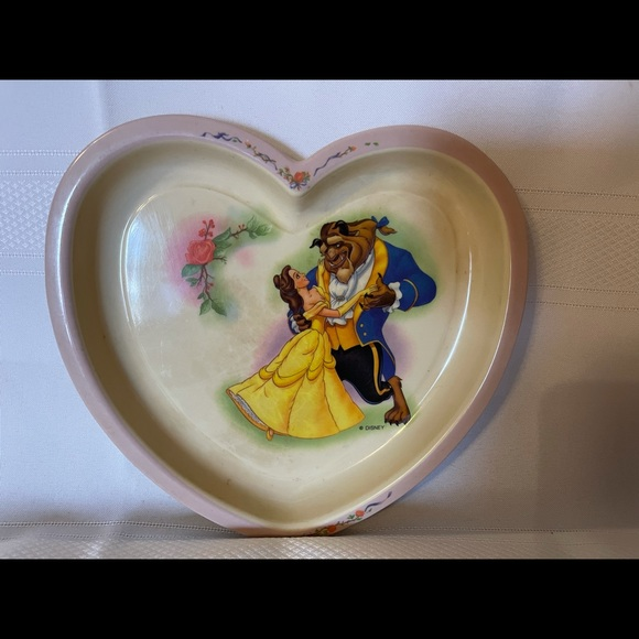 Vintage Disney Beauty & The Beast Plate